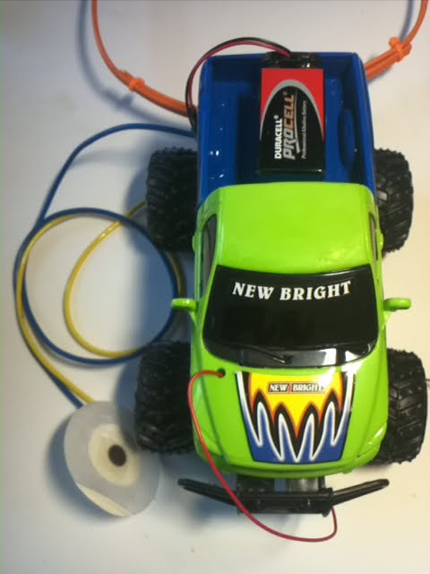 remote controlled car with electrodes